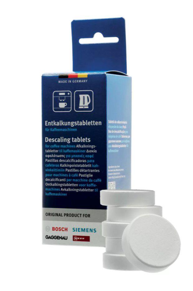 Katlakivi eemaldamise tabletid kohvimasinatele, veekeetjatele   BOSCH 00311556, 6x18g