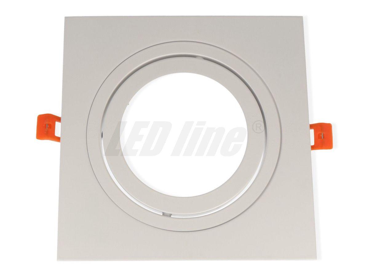 Sisseehitatav valgusti, AR111 ruudukujuline, alumiiniumist, reguleeritav, valge, LED line