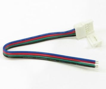 LED riba ühendus, 4 kontaktiga RGB tihendus juhtmega