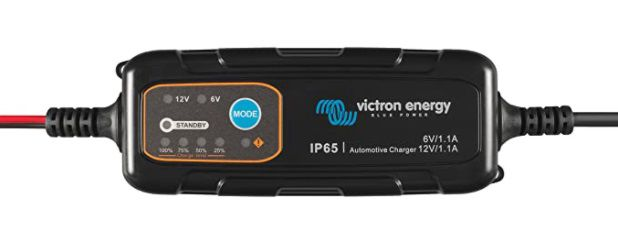 Automotive IP65 Battery Charger 6V/12V-1,1A, with DC connector