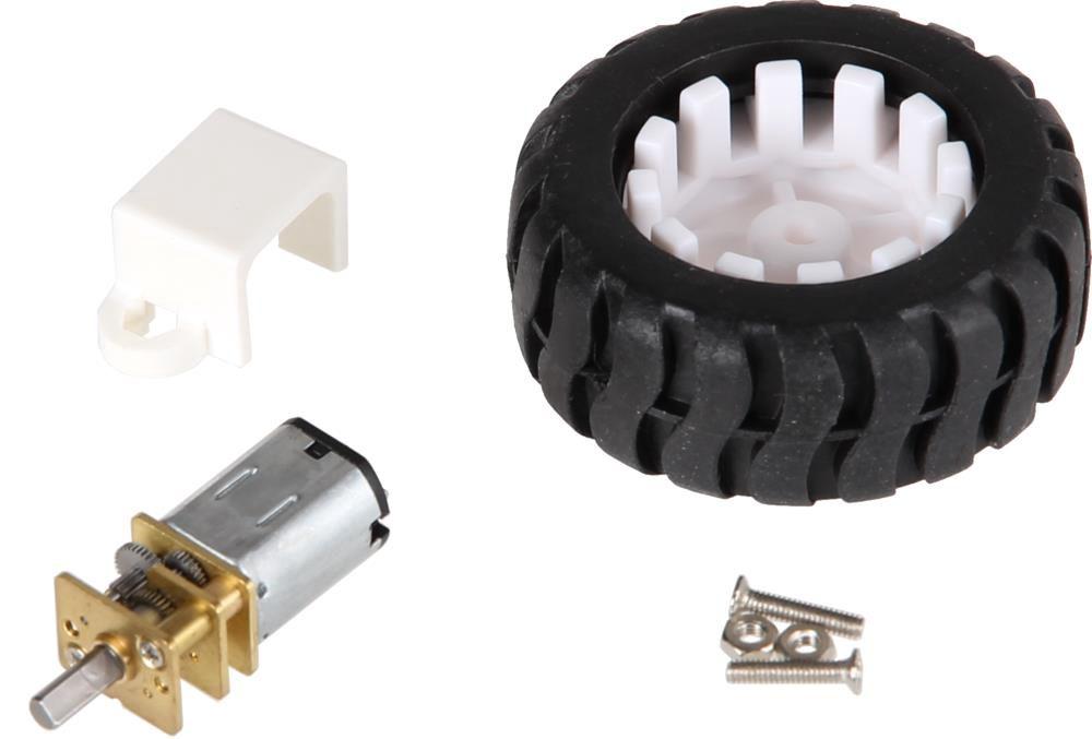 Joy-iT Micro metall gear motor inclusive wheel and mounting