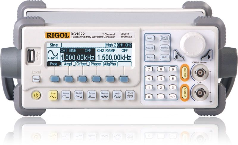 Funktsionaalne generaator  DG1022, 2 kanalit, 25MHz, 100MSa/s, 4kpts, RIGOL