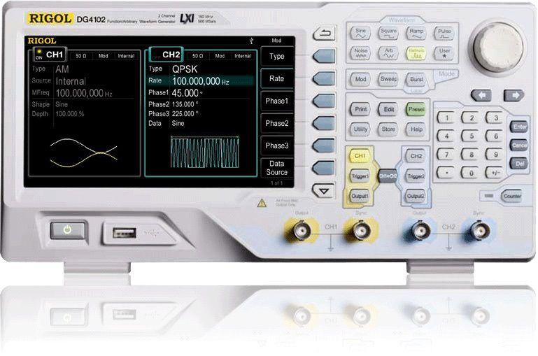 Funkts. generaator DG4102 2 kanal. 100MHz 500MSa/s 16kpts RIGOL