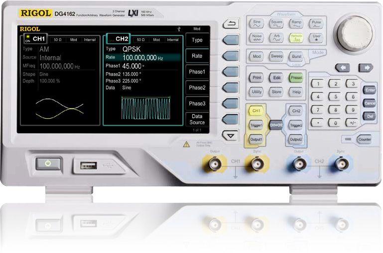 Funkts. generaator DG4162 2 kanal. 160MHz 500MSa/s 16kpts RIGOL
