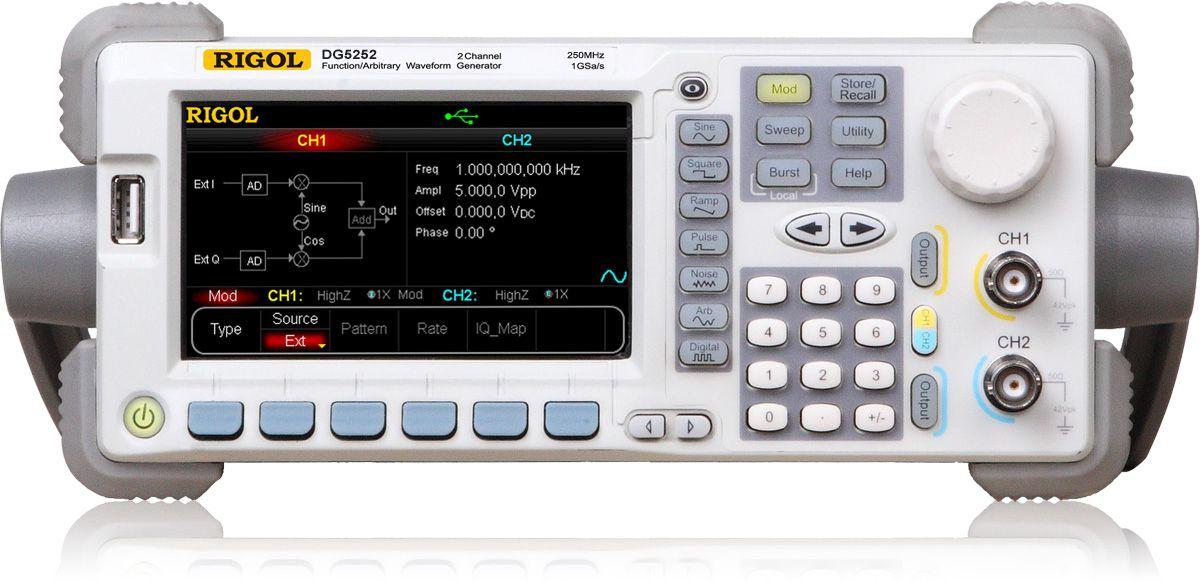 Funkts. generaator DG5252 2 kanal. 250MHz 1GSa/s 128Mpts RIGOL