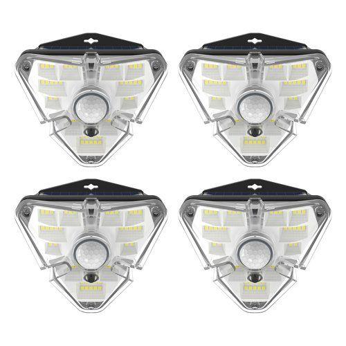 LED luminaires with solar battery and motion sensor 4pcs, 1.2W, 1200mA, IPx5, BASEUS