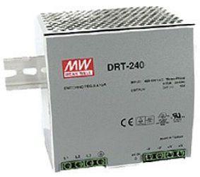 Toiteplokk DIN liistule, 3-faasiline sisend, 240W, 48VDC, 48...55VDC, 5A, 480...780VDC, metallkorpus, Mean Well