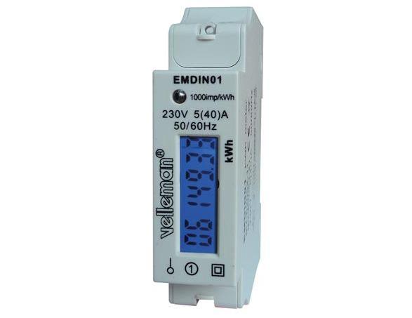 Ühefaasiline elektrienergia arvesti EMDIN01