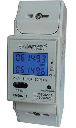 Ühefaasiline elektrienergia arvesti EMDIN02