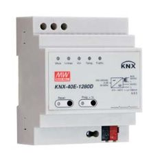 KNX EIB DIN rail power supply with integrated choke; Output 30Vdc at 1.28A, with diagnostic function, Mean Well