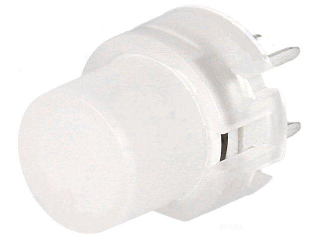 Mikrolüliti OFF- (ON) Ø12mm;,6pins, 0,01A / 35VDC, kollane LED,  SPST-NO,THT