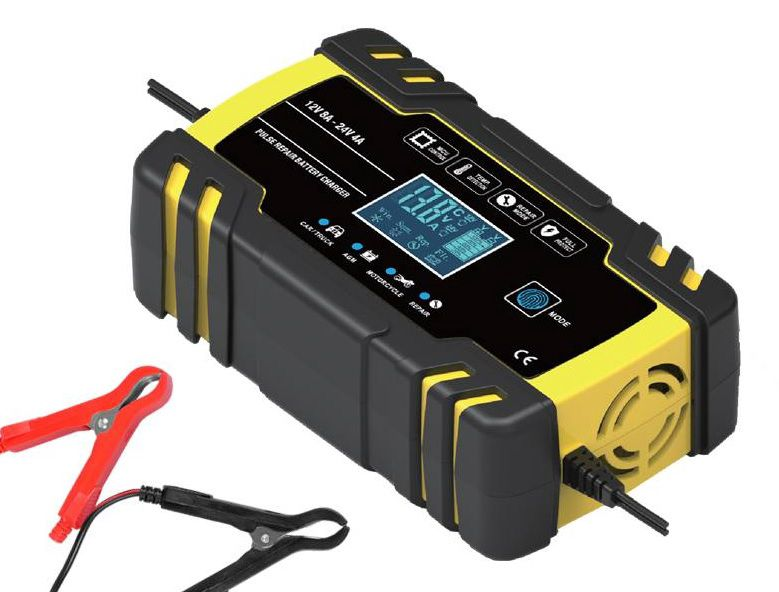 Car battery charger 12V 8A, 24V 4A
