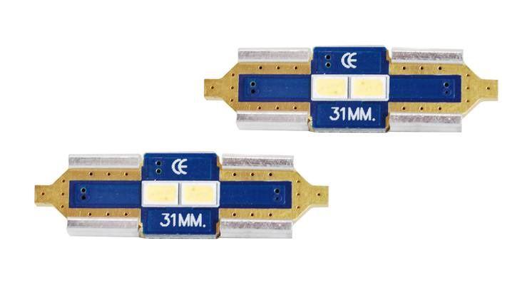 LED CANBUS Festoon 31mm, 2LED 3623, Cold White, 12V, 2pcs, LTC