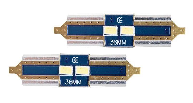 LED CANBUS Festoon 36mm, 2LED 3623, Cold White, 12V, 2pcs, LTC