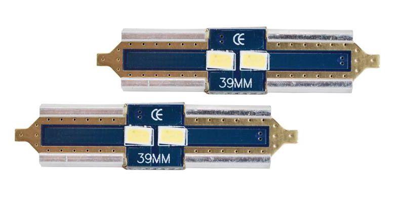 LED CANBUS Festoon 39mm, 2LED 3623, Cold White, 12V, 2pcs, LTC