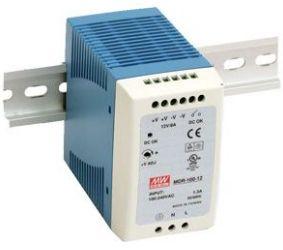 Impulss toiteplokk DIN liistule 90W, 12VDC, 12...15VDC, 7.5A, 85...264VAC, Mean Well