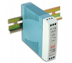 Impulss toiteplokk DIN liistule 20W, 12VDC, 1.67A, 85...264VAC, Mean Well