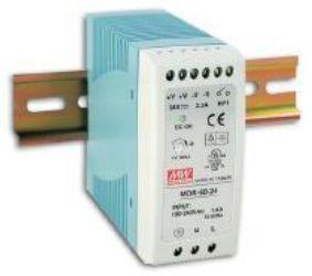 Impulss toiteplokk DIN liistule 60W, 12VDC, 12...15VDC, 5A, 85...264VAC, Mean Well