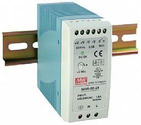 Impulss toiteplokk DIN liistule 60W, 24VDC, 24...30VDC, 2.5A, 85...264VAC, Mean Well
