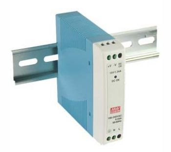 Impulss toiteplokk 10W, 12V, 0.84A, 85...264VAC, 170g, DIN liistule, Mean Well