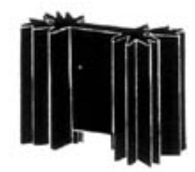 Radiaator 44x35x12.5mm TO220