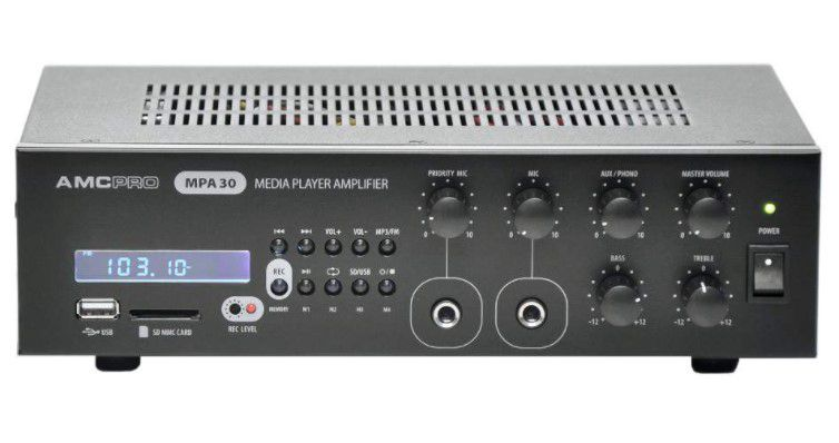 AMC MPA 30 Mixing Amplifier with Integrated Music Player & FM Tuner