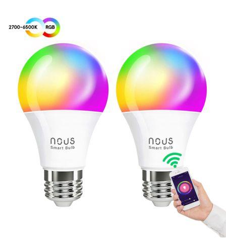 NOUS P3 Smart WIFI Bulb RGB E27 (2pcs), TUYA / Smart Life