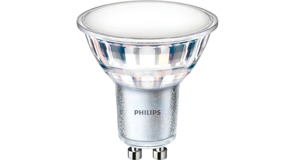 Led bulb, GU10 5W 550lm, 120°, warm white 3000K, PHILIPS