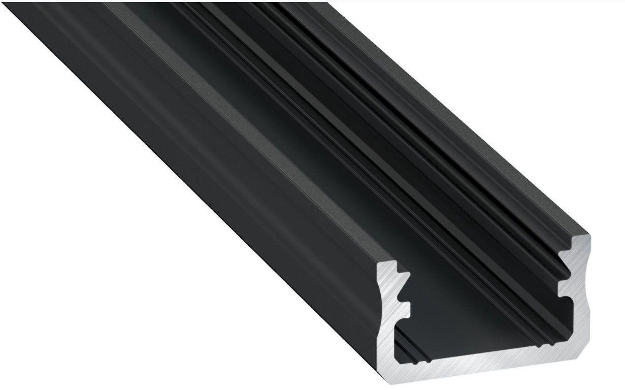 LED profiil A, alumiiniumist, anodeeritud, must, 2,02m, LUMINES