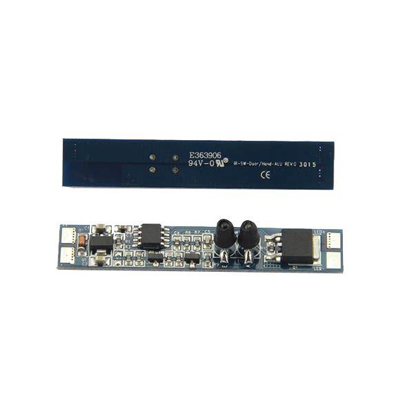 LED riba kontroller ON-OFF, integreeritav profiili, 12-24V 8A, reageerib käe žestile