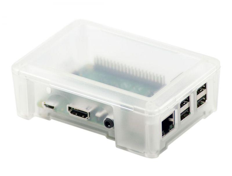 Mooduli korpus miniarvutile  Raspberry Pi 3 (läbipaistev)