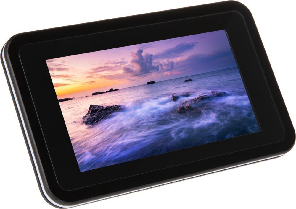 "Raspberry Pi 7"" Touchscreen Display Case for Raspberry Pi 4B - Black"