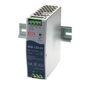 Impulss toiteplokk 120W, 24VDC, 24...28VDC, 5A, 88...264VAC, PFC, DIN liistule, Mean Well