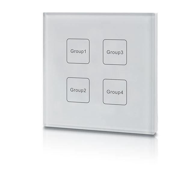 Juhtpaneel DALI, 4 gruppi, valge, Sunricher