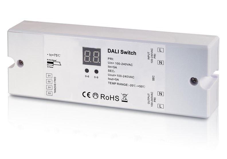 DALI süsteemi lüliti 100-240V, 5A, 1-kanaline, Sunricher