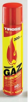 Tulemasina gaas 300 ml, isobutaan, Tiross TS702