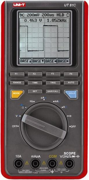Multimeeter UT81C CATII, CATIII, osciloskoop, sageduse, mahtuvuse, temperatuuri mõõtmine, pidev ahel,  UNI-T