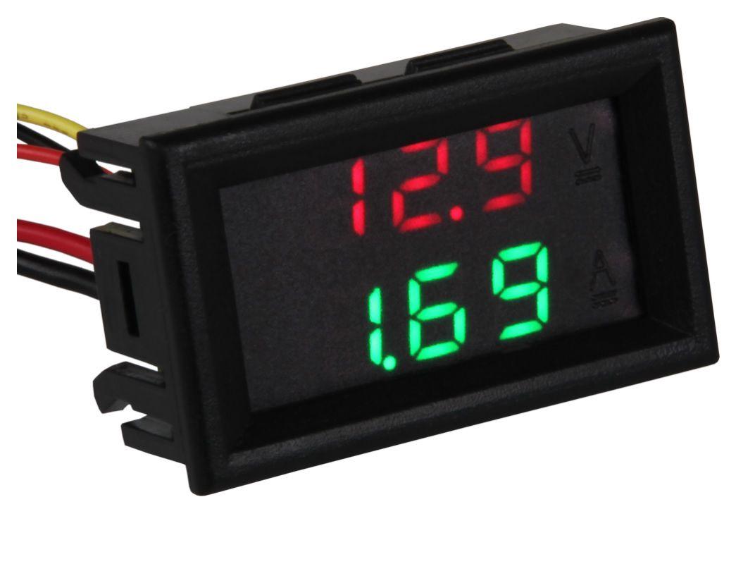 Compact voltage and current meter, working voltager 3.5V-30V, measurement voltage 0-99.9V, current 0-9.99A