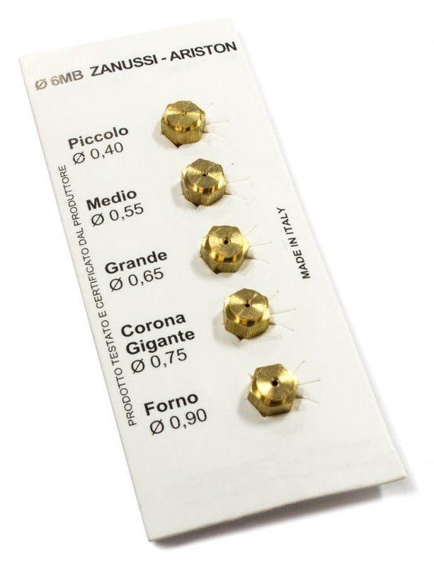 Düüsid 6MB GPL 0.40-0.55-0.65-0.75-0.90 ZANUSSI (kompl.)