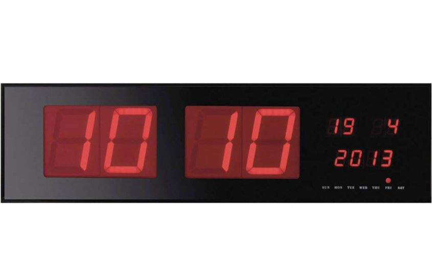 LED Wall Clock (125mm Height Time Display)