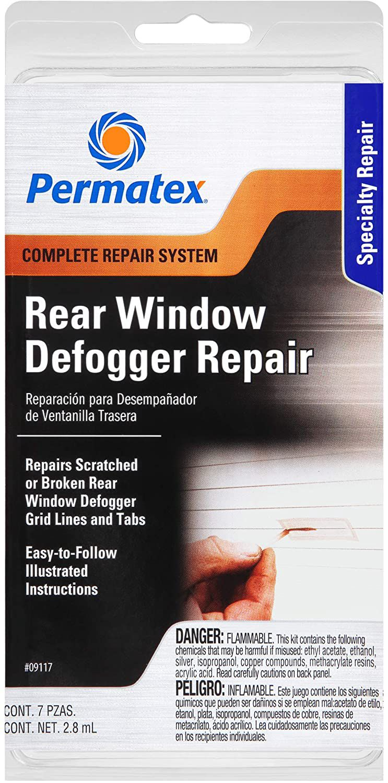 Rinkinys stiklo šildytuvo gijų remontui ir kontaktų klijavimui PERMATEX