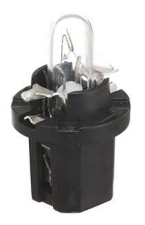 Lemputė 12V 1.2W BAX8.5/2  juodas korpusas