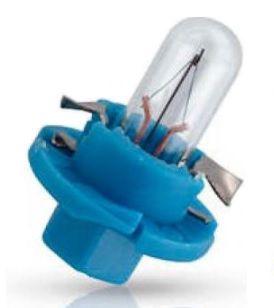 Lemputė 12V 1.2W BAX8.4d/2 mėlynas korpusas