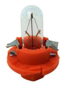 Lemputė 12V 1.1W BAX8.4d/1.5 oranžinis korpusas
