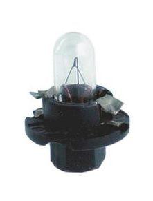 Lemputė 12V 1.2W BAX8.4d/1.5 juodas korpusas