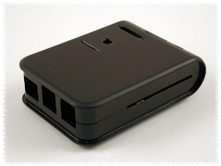 Korpusas Raspberry Pi B+/2/3 kompiuteriui juodas HAMMOND