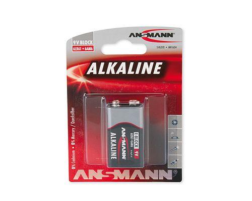 Šarminė baterija 6LR61 (1604, 6F22, 522) 9V ANSMANN