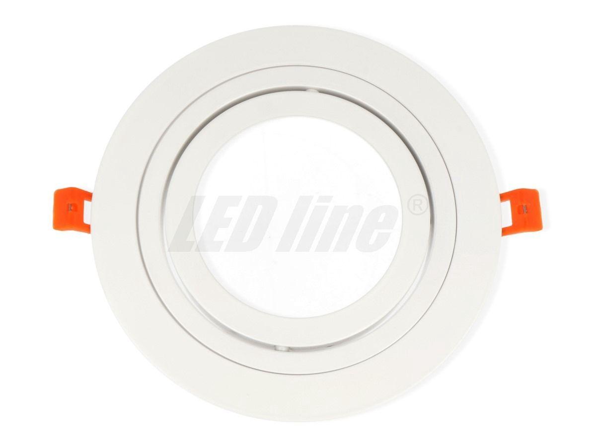 Įmontuojamas šviestuvas, aliuminis AR111 apvalus, reguliuojamas, baltas, LED line