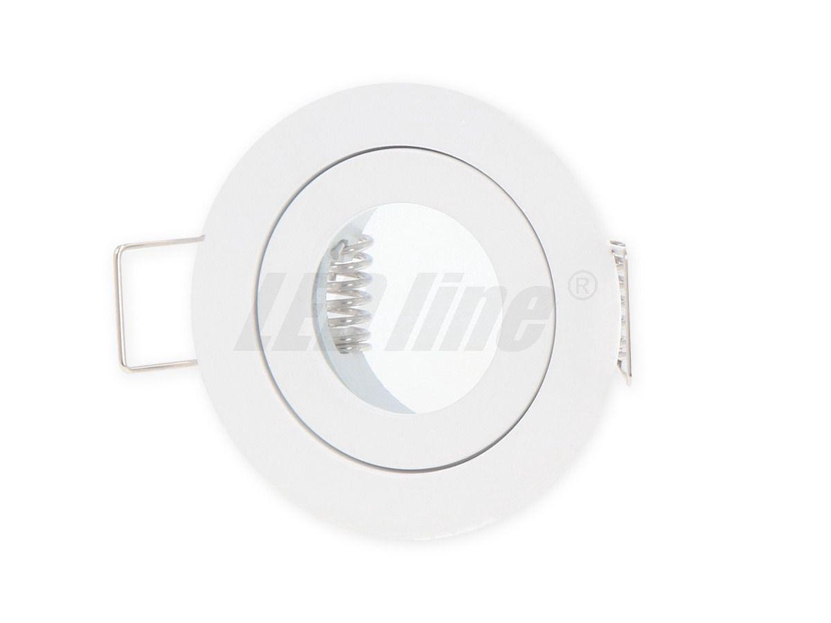 Įmontuojamas šviestuvas, hermetinis MR11 apvalus, baltas, LED line
