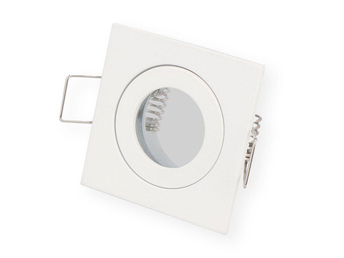 Įmontuojamas šviestuvas, hermetinis MR11 kvadratinis, baltas, LED line
